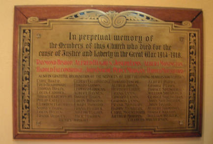 Beckminster Methodist Church Penn Fields war memorial