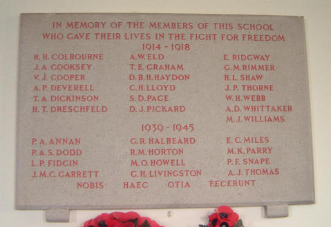 Tettenhall College War Memorial.