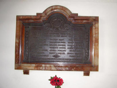 Darlington Street Methodist Church War Memorial.