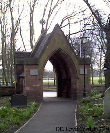 Holy Trinity Church Heath Town lych gate memorial