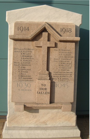 Turner Manufacturing Ltd War Memorial.