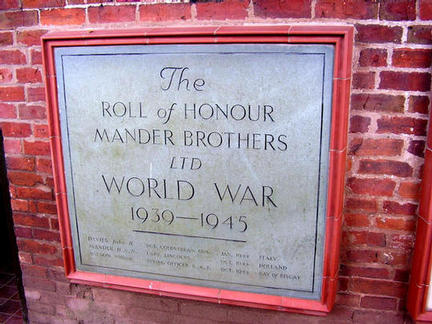Mander Brothers Memorial. WW2 memorial
