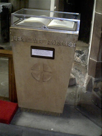 St Peter's Church War Memorials. Book of remembrance