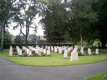 Wolverhampton Borough Cemetery. WW2 plot.