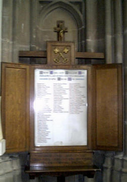 St Peter's Church War Memorials.