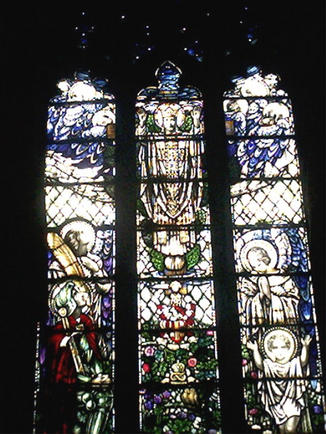 St Peter's Church War. Stained glass window.