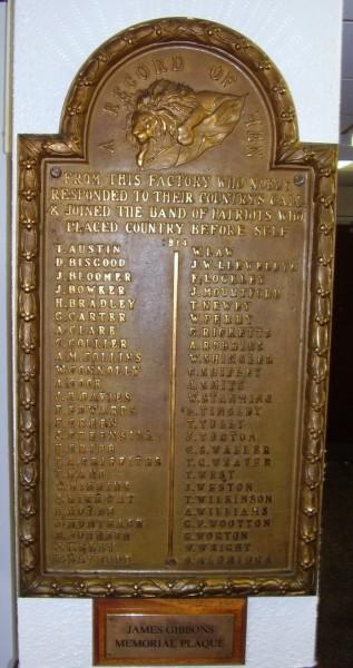 Wolverhampton War Memorials James Gibbons Lock And Key